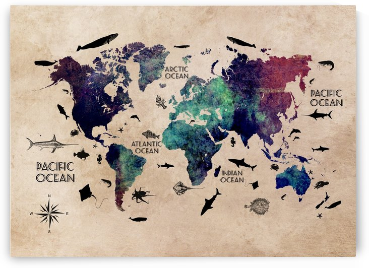 map of the world  by Justyna Jaszke
