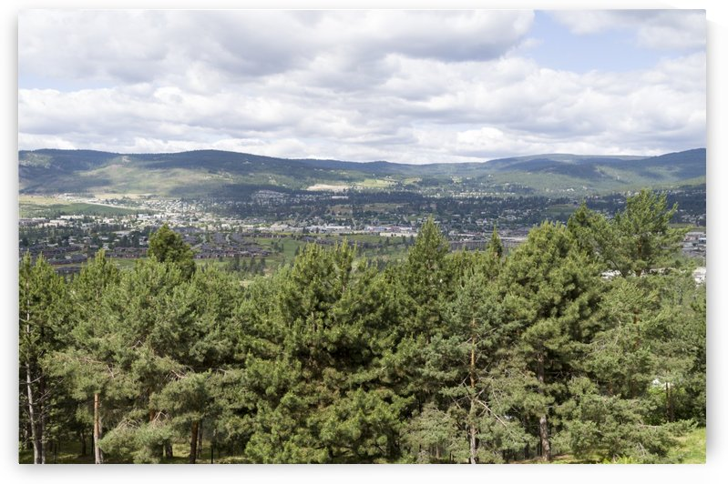 A view of Okanagan Lake and part of Kelowna from near the top of Mission Hill Road 3 by Bob Corson