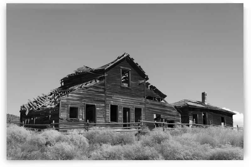 John Carmichael Haynes homestead Oliver BC BW by Bob Corson