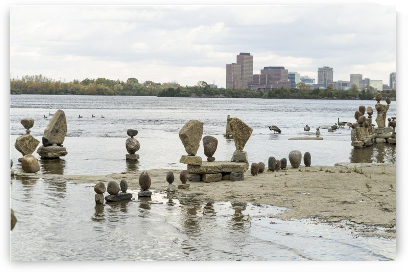 2017 Inukshuks at Remics Rapids 37 by Bob Corson