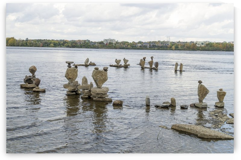 2017 Inukshuks at Remics Rapids 39 by Bob Corson