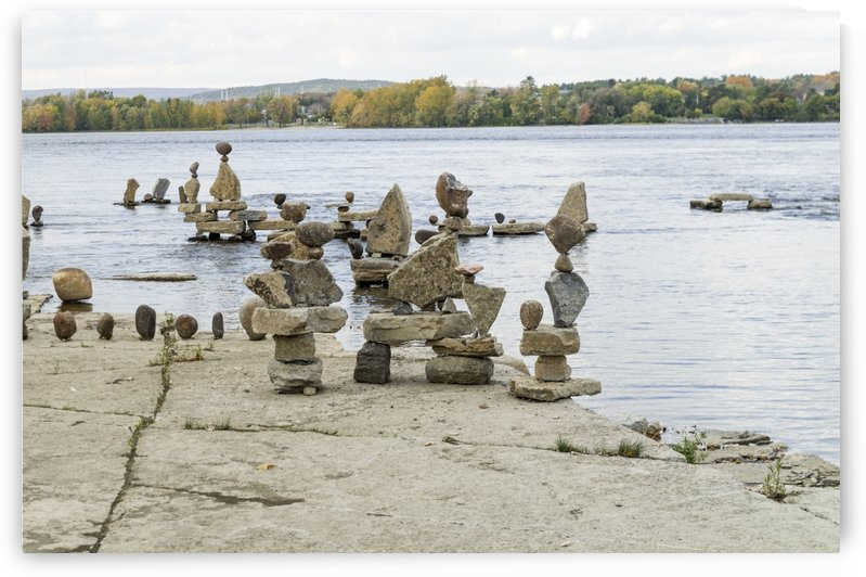 2017 Inukshuks at Remics Rapids 25 by Bob Corson