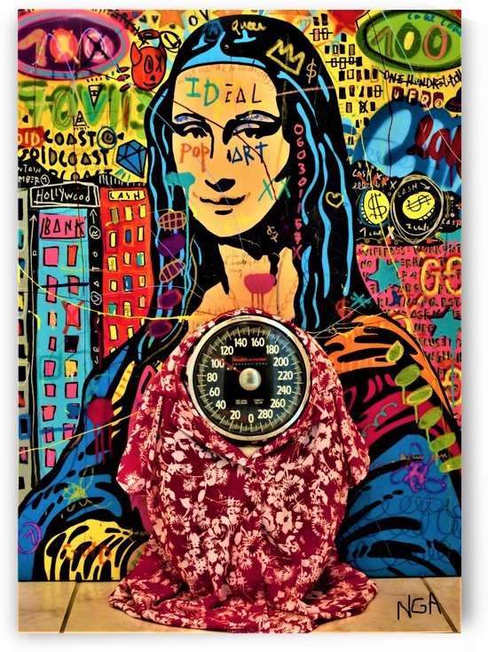 Mona Lisa weighs 104 lbs   by Neil Gairn Adams by Neil Gairn Adams