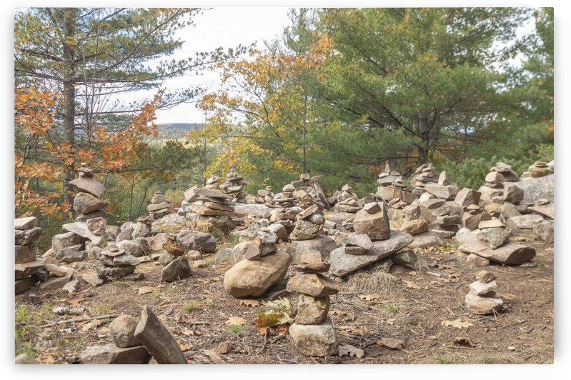 Eagle Nest Trail Inukshuks 3 by Bob Corson