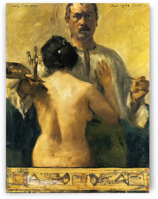 Self-portrait with Model by Lovis Corinth by Lovis Corinth