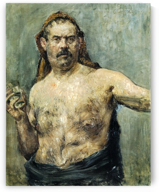 Self-portrait with Glass by Lovis Corinth