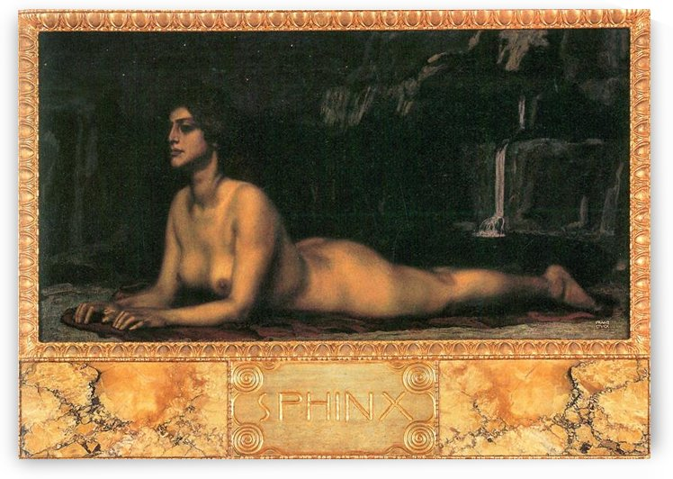 Sphinx by Franz von Stuck by Franz von Stuck