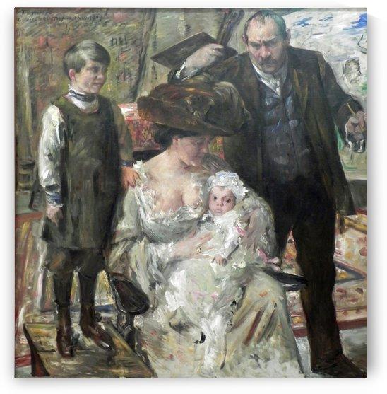 Kunstler u Familie by Lovis Corinth