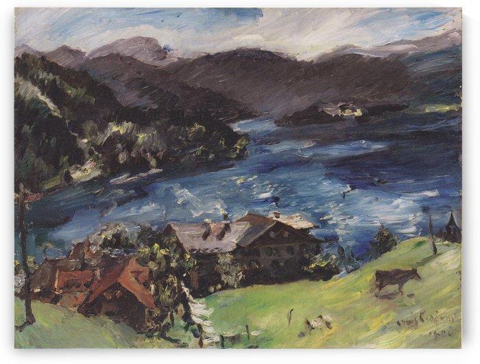 Landschaft mit Kuh by Lovis Corinth