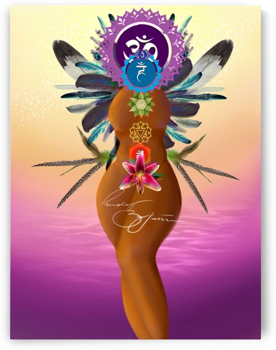 Chakra Queen by Afrocentric Painter