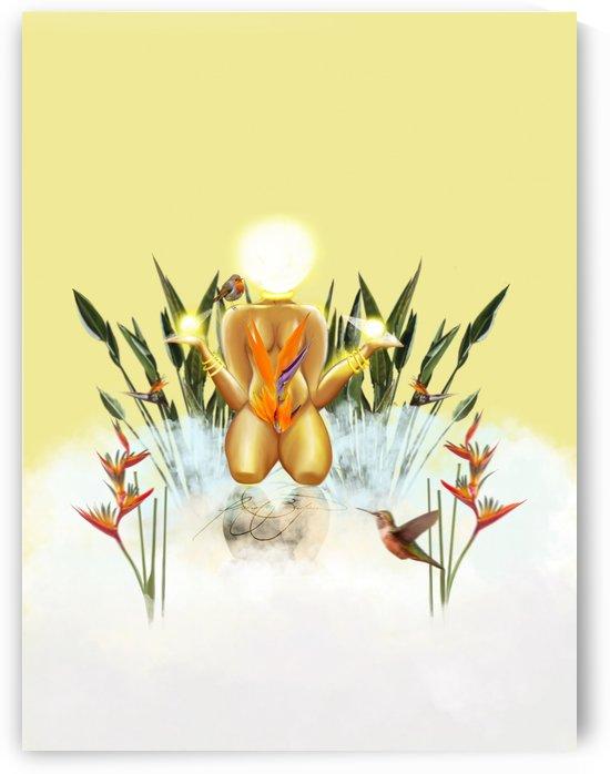 Sun Goddess by Afrocentric Painter