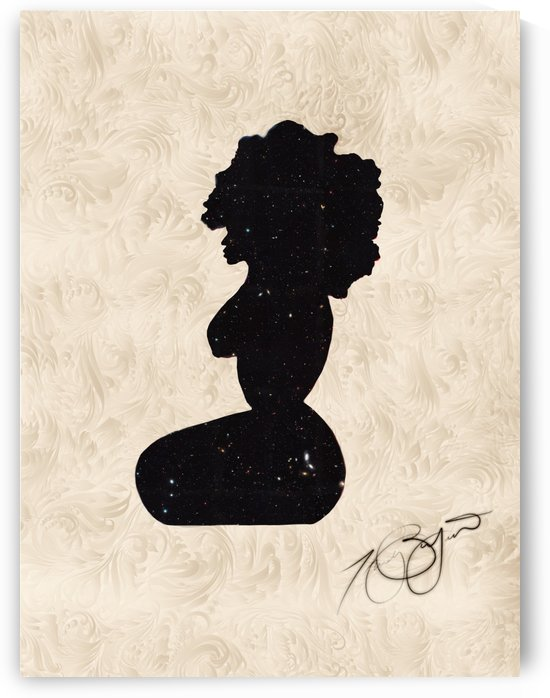 Afrocentric Woman Silhouette - Luxury Cream by Afrocentric Painter