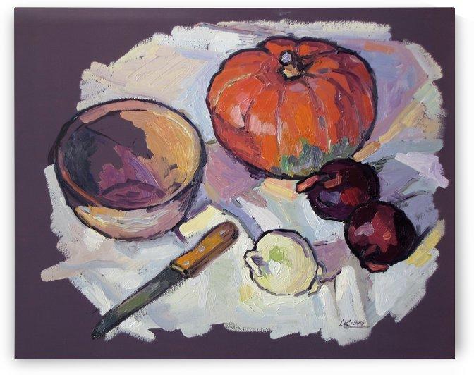Still Life with Pumpkin by Ivan Kolisnyk