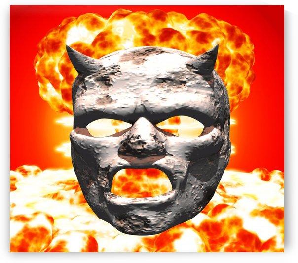 Atomic mask of stone by Matthew Lacey