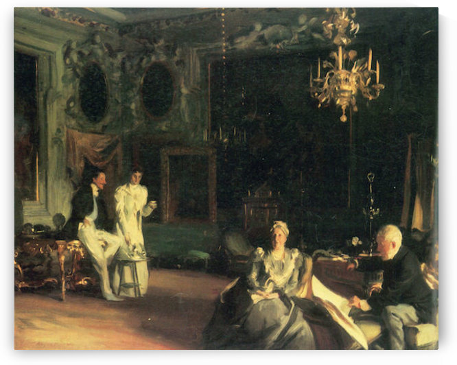 Interior in Venice by John Singer Sargent by John Singer Sargent