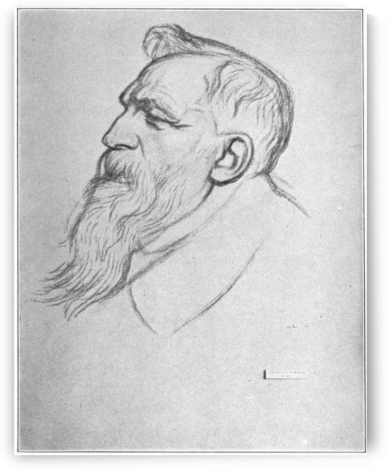 Auguste Rodin by William Rothenstein