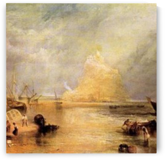 St. Michaels Mount, Cornwall by Joseph Mallord Turner by Joseph Mallord Turner