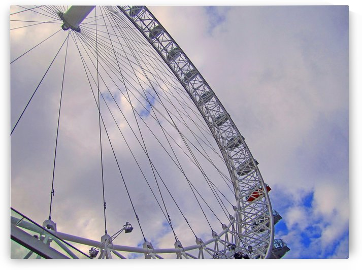 Looking up at The London Eye by Gods Eye Candy