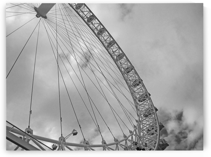 Looking up at The London Eye B&W by Gods Eye Candy