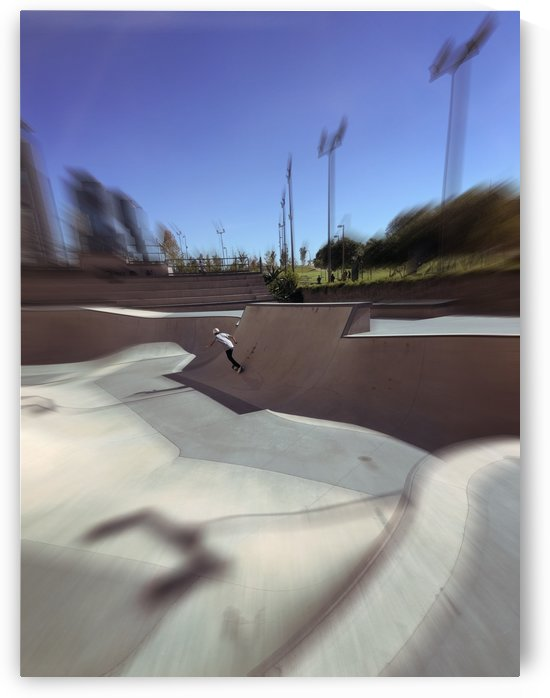 Skateboarding double exposure by PedroVit