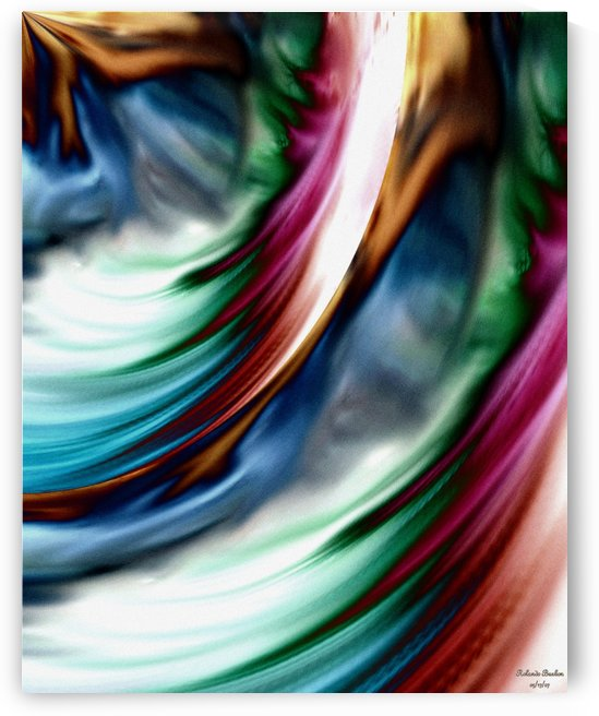Blue Valley Whirlwind Rainbow Abstract Art by xzendor7