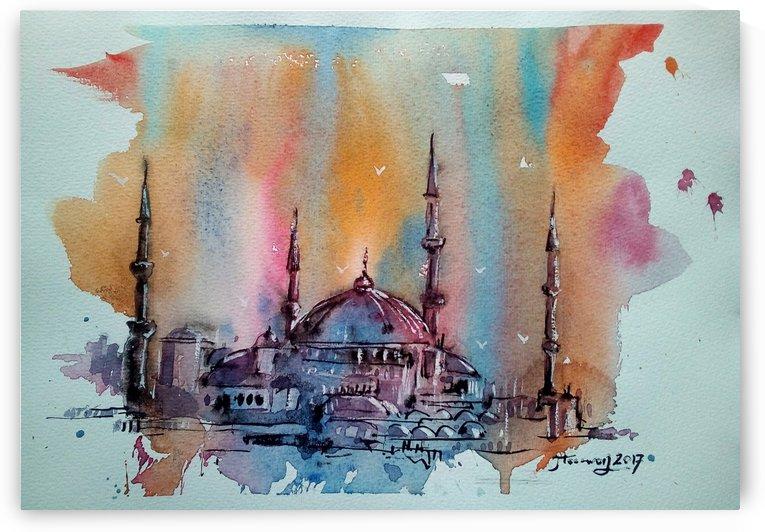 Blue Mosque Istanbul by JAMALEDDIN TOOMAJNIA