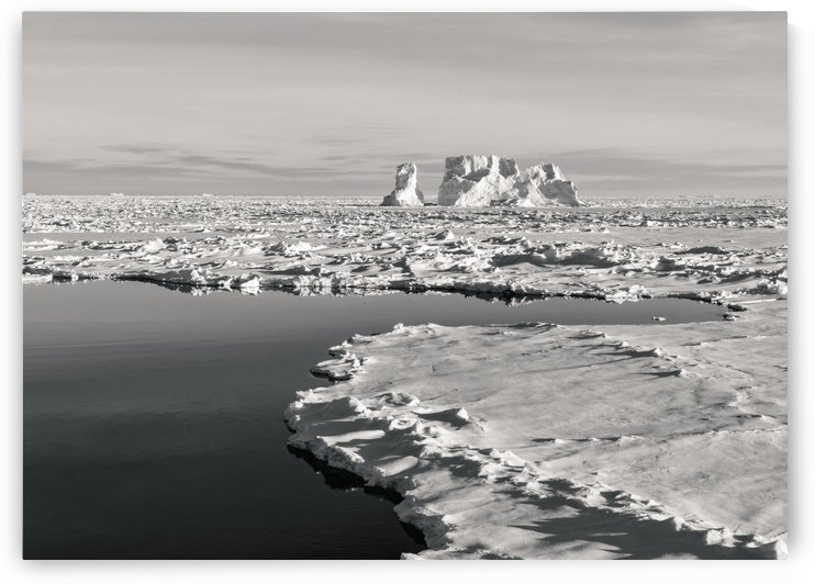 Weathered Berg by the Pool B&W by Peter Kaple