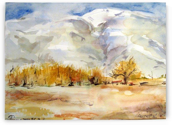 Watercolor Landscape 4 by JAMALEDDIN TOOMAJNIA