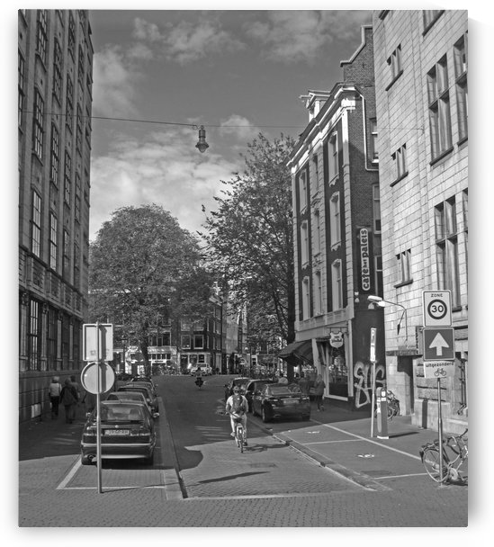 Streets of Amsterdam B&W by Gods Eye Candy