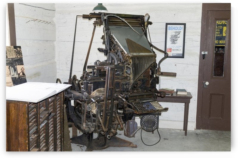 Linotype Machine by Bob Corson