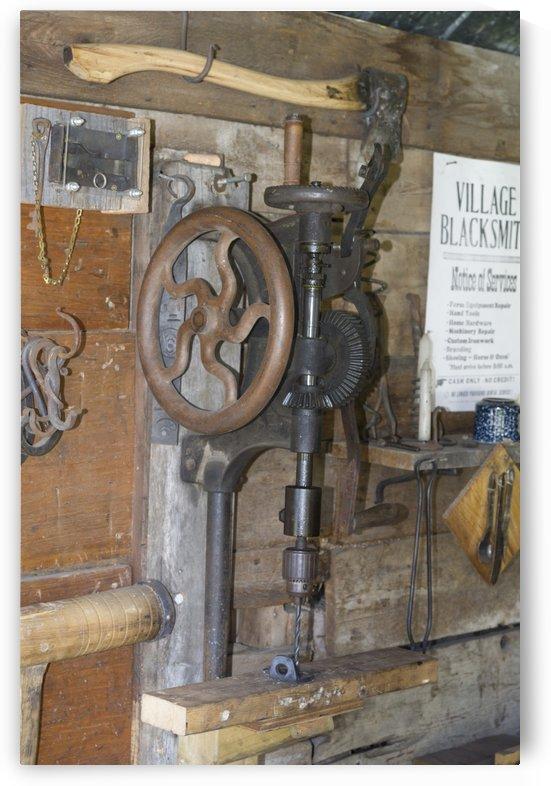 Vintage drillpress by Bob Corson