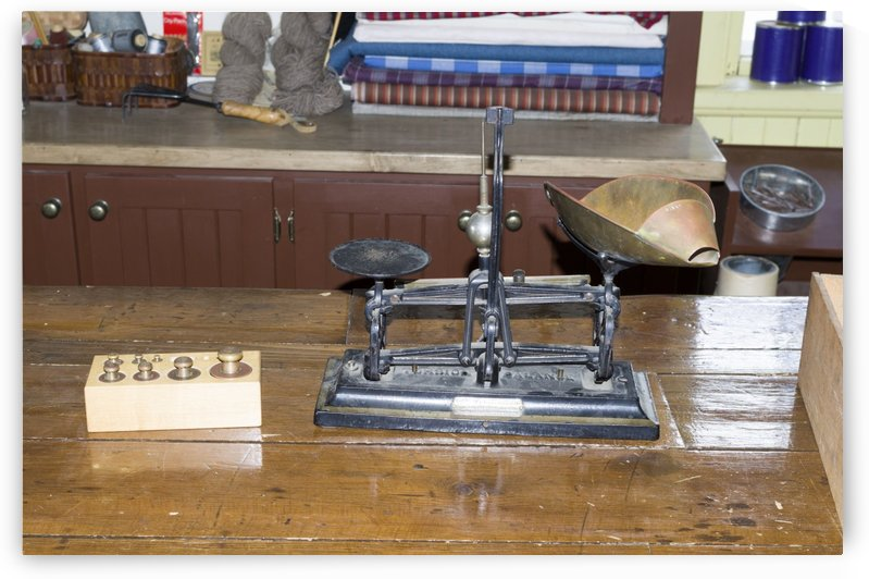 Old Merchant Scales 2 by Bob Corson
