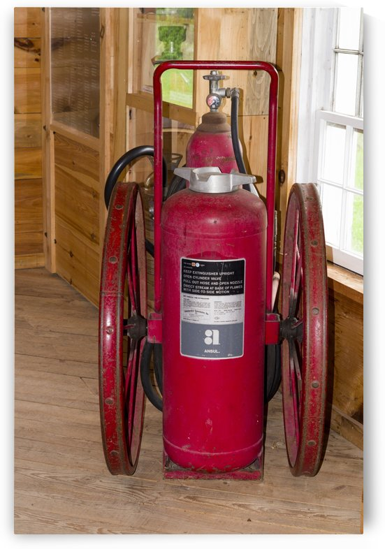Fire extinguisher cart by Bob Corson