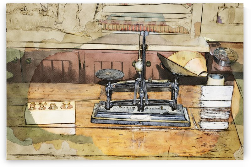 Old Merchant Scales by Bob Corson