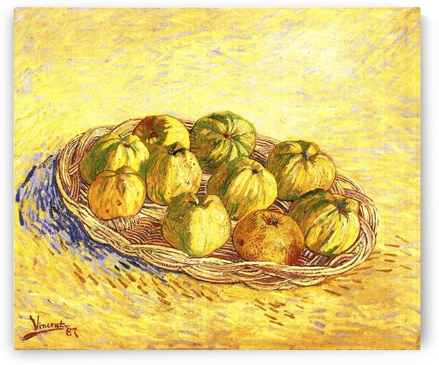 Still life with apple basket -2- by Van Gogh by Van Gogh