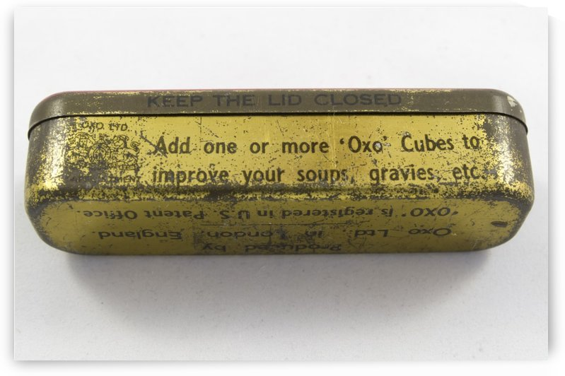 Vintage OXO boullion cube tin container 2 by Bob Corson