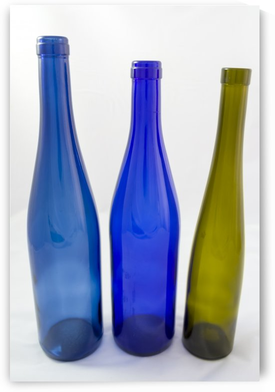 Group of old coloured glass bottles  2 by Bob Corson
