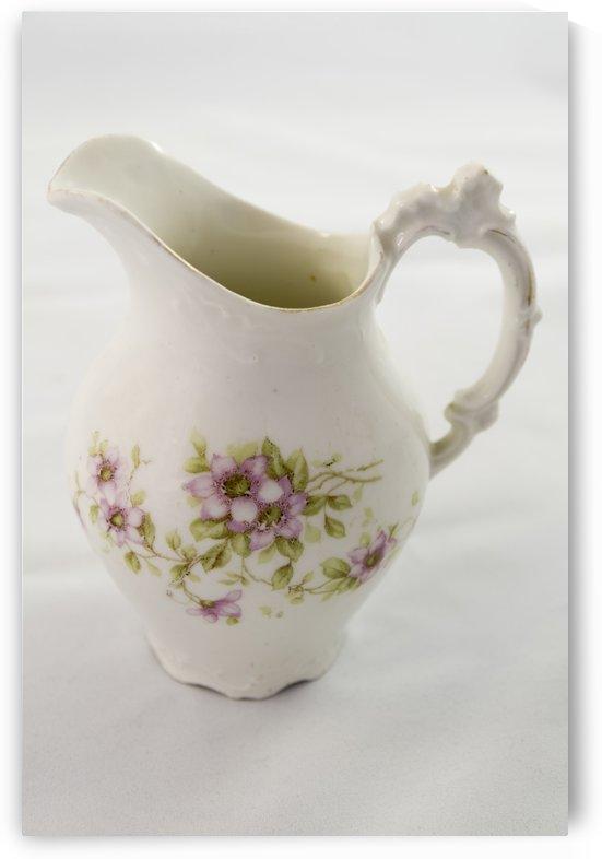Antique porcelain painted pitcher by Bob Corson
