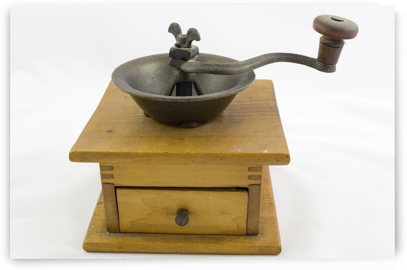 Antique Wooden Coffee Grinder 2 by Bob Corson