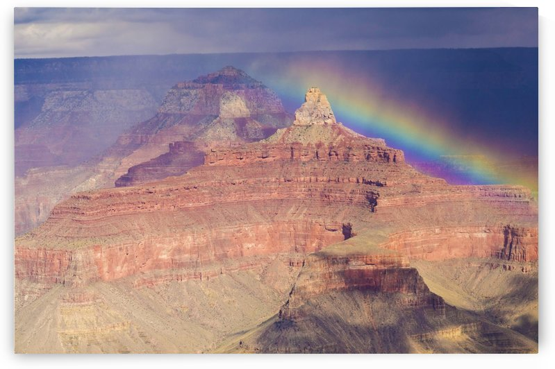 The Grand Canyon and Rainbow by Juvelyn Green