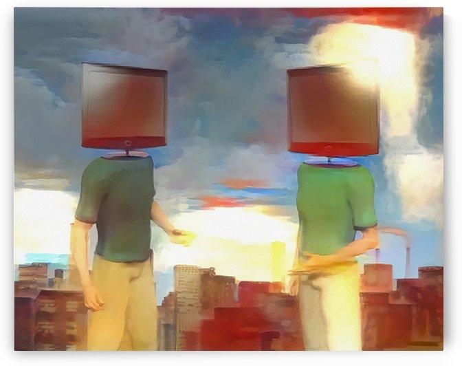 TV Head Men by Bruce Rolff