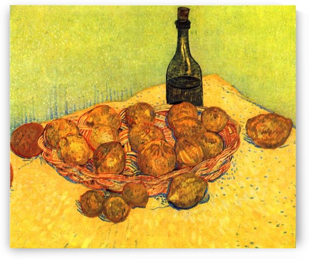 Still Life with Bottle, Lemons and Oranges by Van Gogh by Van Gogh