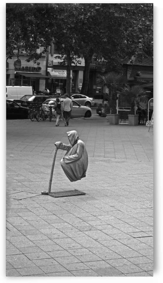 Levitating Man B&W by Gods Eye Candy
