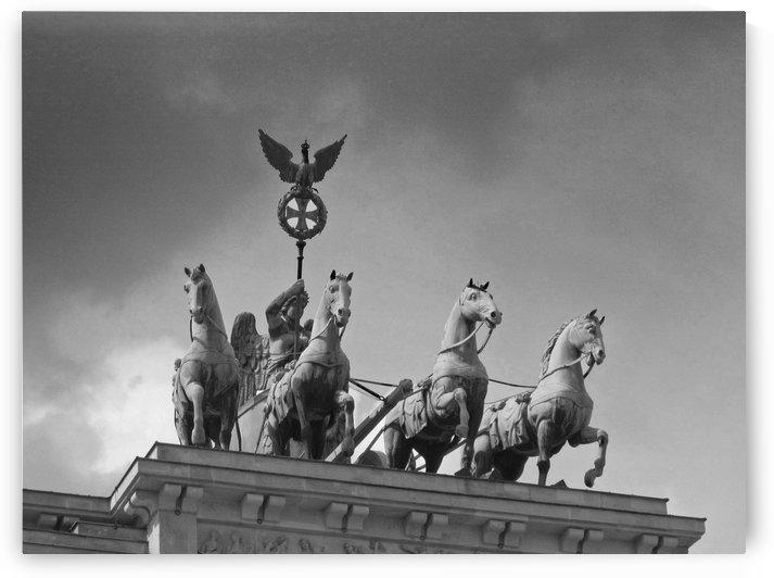 Brandenburg Gate B&W by Gods Eye Candy