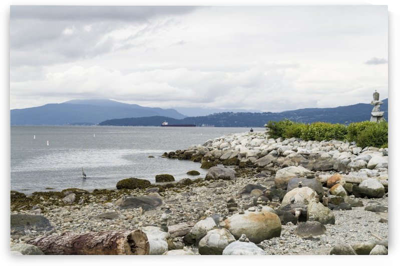 The Rocky shoreline along False Creek leading out into English Bay. by Bob Corson
