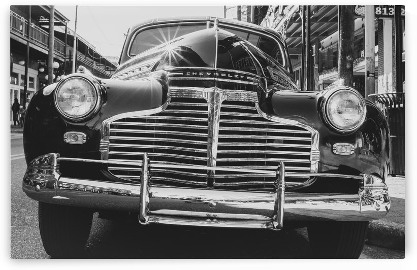 Vintage 1941 Chevy Special Deluxe Business Coupe_ B&W  by Melody Rossi