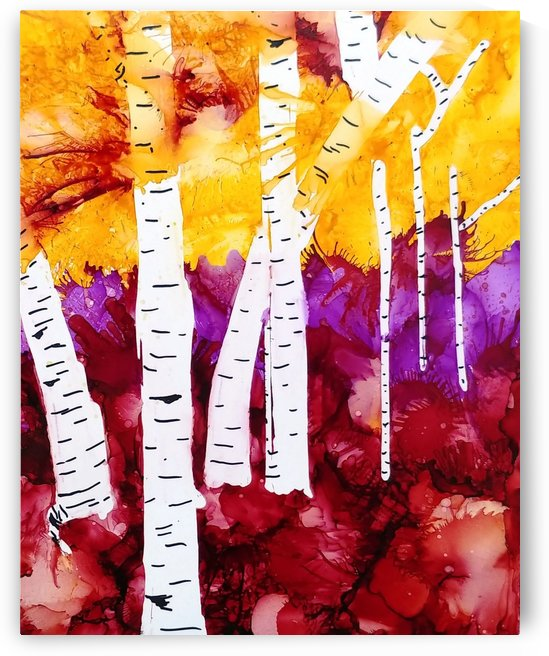 Twilight Aspens by Liz Dillard