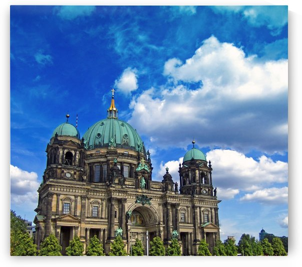 Berlin Cathedral and Blue Skies by Gods Eye Candy