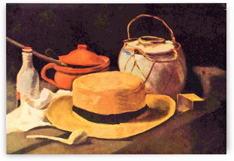 Still Life with Pipe and Straw Hat by Van Gogh by Van Gogh