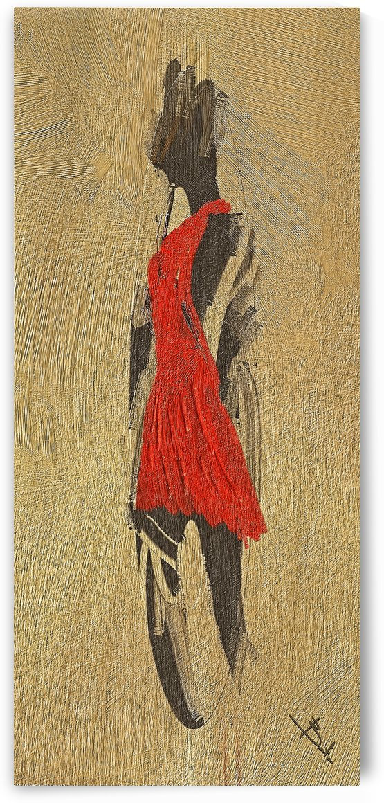 Red dress by Betty De Oliveira